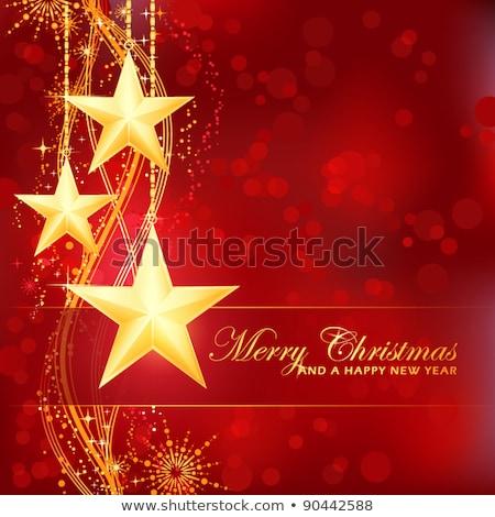 Orange Glossy Merry Christmas Background Vector Illustration Stockfoto © wenani