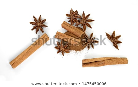 Cinnamon with Star anise, paths Stock photo © maxsol7