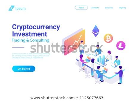 blockchain meeting of people vector illustration stock photo © robuart