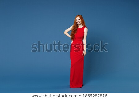 beauté · brunette · mode · robe · amour - photo stock © deandrobot