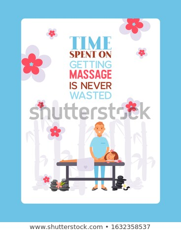 Back Massage Therapy Specialists Posters Vector Stock photo © robuart