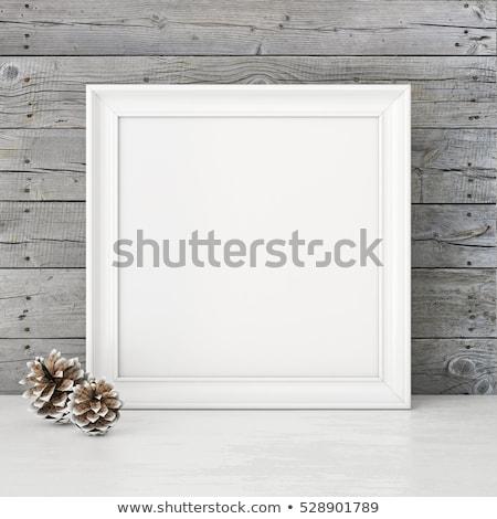 Cuadrados marco plantilla gris transparente Navidad Foto stock © romvo