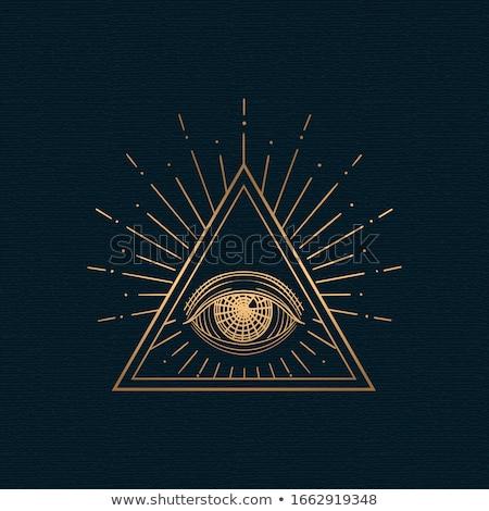 Gold Eye of Horus Stock photo © blackmoon979