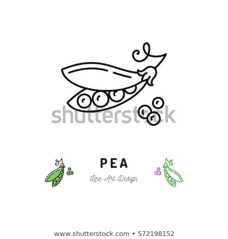 vegetarisch · logo · icon · symbool · veganistisch · voedsel - stockfoto © blaskorizov
