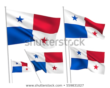 Panama waving flag icon isolated, official symbol of country, white, red and blue with stars, vector Stock photo © MarySan