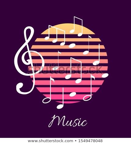 Foto stock: Notas · musicales · texto · anunciante · vector · clásico · gráfico