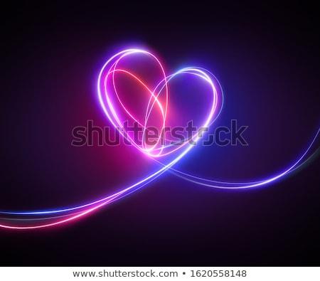 En az neon kalp soyut dizayn Stok fotoğraf © SArts