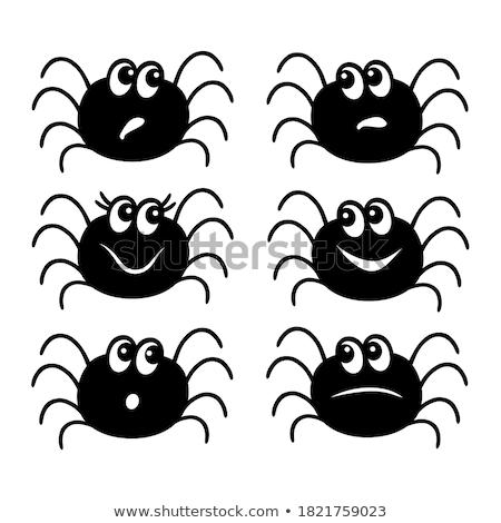 Komik örümcek yalıtılmış beyaz çılgın Stok fotoğraf © hittoon