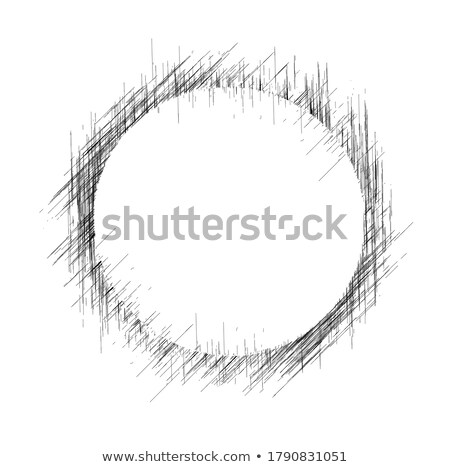 fekete · zsírkréta · stílus · alkat · illusztráció · rajzolt - stock fotó © Blue_daemon