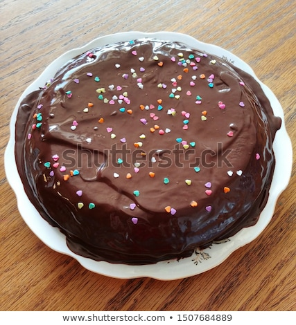 Chocolate cake with Sprinkles Stock photo © YuliyaGontar