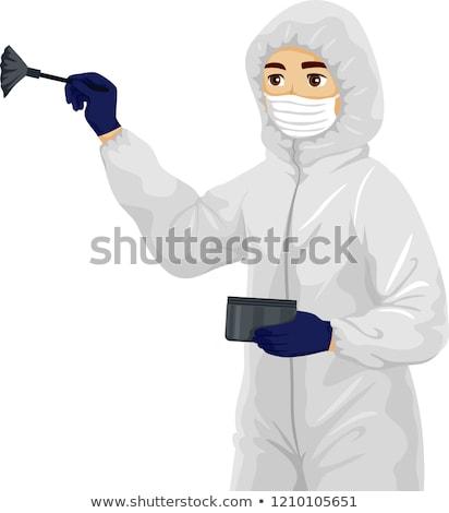 Teen Boy Forensic Dusting Powder Illustration Stock photo © lenm