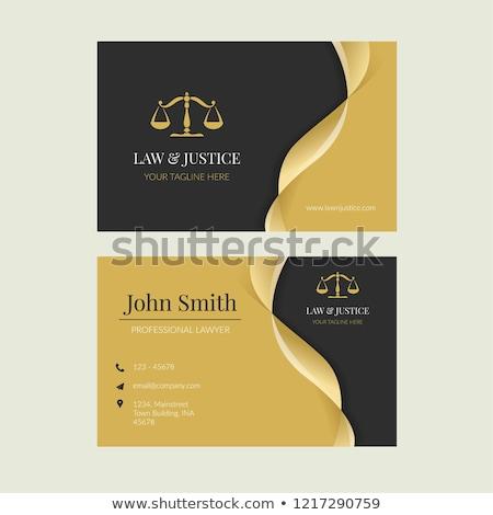 abogado · tarjeta · de · visita · icono · naranja · negro · negocios - foto stock © angelp