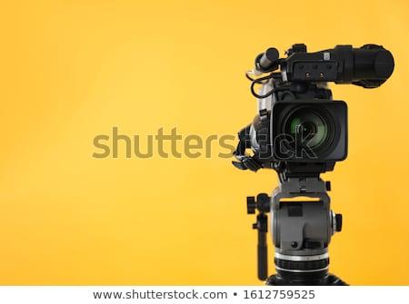 Profi videókamera illusztráció háttér művészet videó Stock fotó © colematt