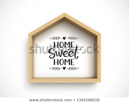 Proste domu charakter ilustracja krajobraz domu Zdjęcia stock © colematt