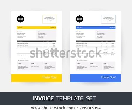 elegant blue invoice template design Stock photo © SArts