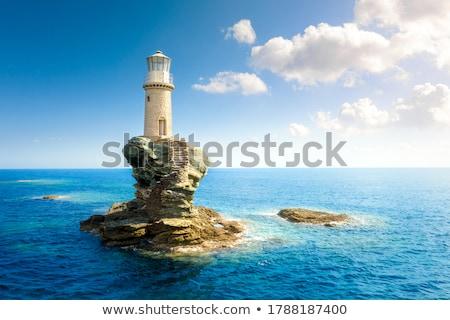 latarni · obraz · wody · świetle · morza · sztuki - zdjęcia stock © colematt
