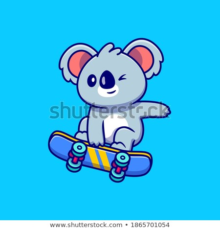 Koala jouer skateboard illustration skate bord Photo stock © colematt