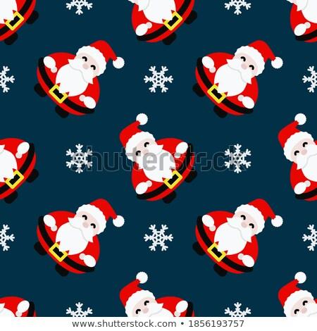 Noel baba örnek sanat kış kırmızı Stok fotoğraf © colematt