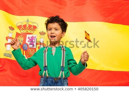 少年 スペイン国旗 実例 女性 男 スポーツ ストックフォト © colematt