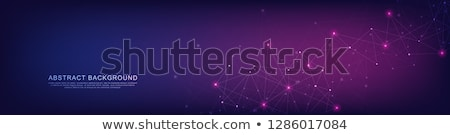 Futuristico tecnologia particelle banner design sfondo Foto d'archivio © SArts