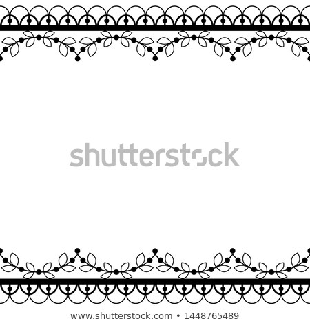 Lace seamless vector pattern with flowers and swirls, retro lace borders design, detailed floral orn Stock photo © RedKoala