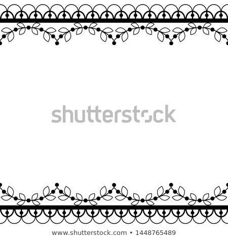 végtelenített · csipke · retro · vektor · minta · részletes - stock fotó © redkoala