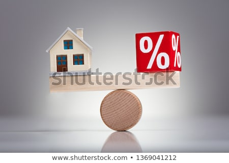 balancing · percentage · Rood · huis · model · wip - stockfoto © andreypopov