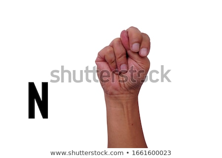 hand demonstrating, 'N' in the alphabet of signs  Stock photo © vladacanon