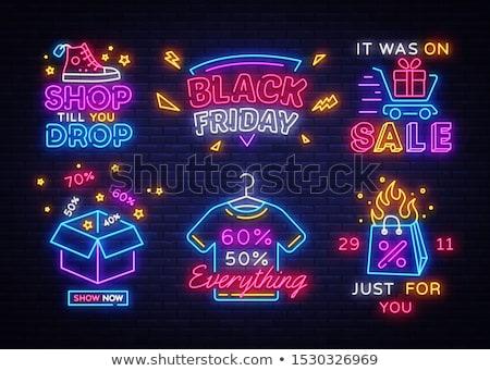 Kleur vintage verlichting winkel embleem eps Stockfoto © netkov1