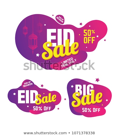 big eid festival sale banners set Stock photo © SArts