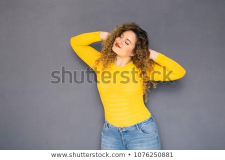 美しい プラスサイズ 小さな ブルネット 女性 ストックフォト © dashapetrenko