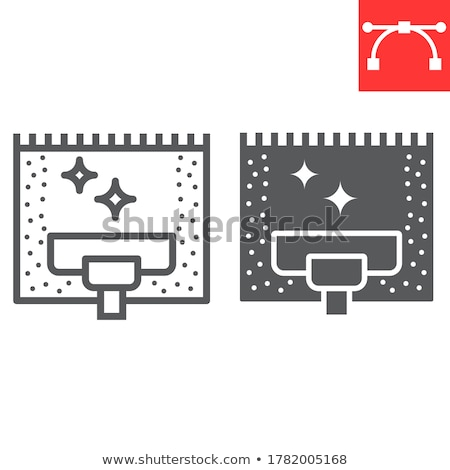 cleaning services line web glyph icons stock photo © anna_leni