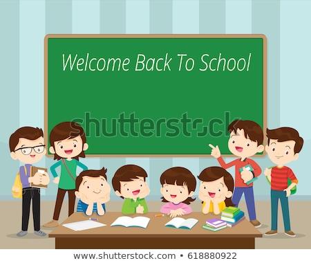 tanár · diák · osztályterem · gyerekek · tanul · matematika - stock fotó © lenm