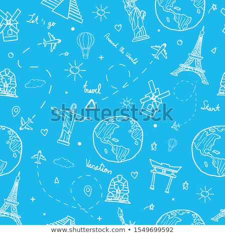 world landmarks pattern stock photo © netkov1