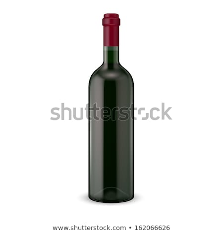 Color Blank Bottle Of Wine With Cork Cap Vector Stock photo © pikepicture