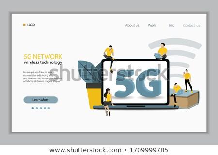man · internet · vector · persoonlijke · sociale · pagina - stockfoto © robuart