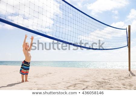 子供 ビーチ 子供演奏 バレーボール ゲーム 子供 ストックフォト © robuart