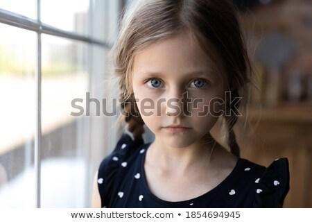 Lány tünet kifejező kommunikáció probléma illusztráció Stock fotó © lenm