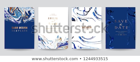 turquoise business card design template Stock photo © SArts