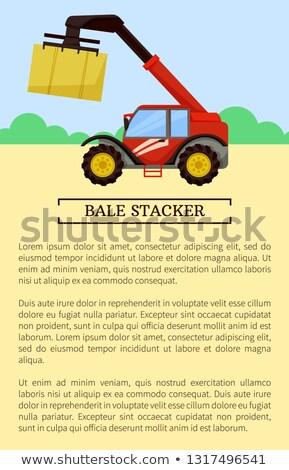 mezőgazdasági · berendezés · tömörítés · széna · izolált · ikon - stock fotó © robuart