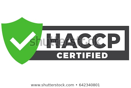 HACCP stamp - Hazard analysis and critical control points emblem Stock photo © Winner