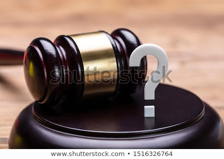 Question Mark With Gavel Over Wooden Desk Stock photo © AndreyPopov