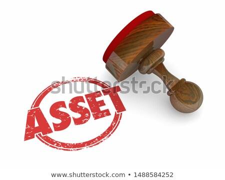 asset valuable property own value stamp 3d illustration stock photo © iqoncept