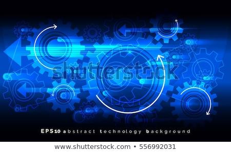 Roda dentada engrenagens azul composição digital computador escritório Foto stock © wavebreak_media