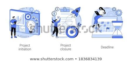 Project closure vector illustration Stock photo © RAStudio