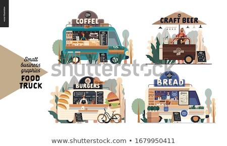 Kosár pékség étel park bolt kenyér Stock fotó © robuart