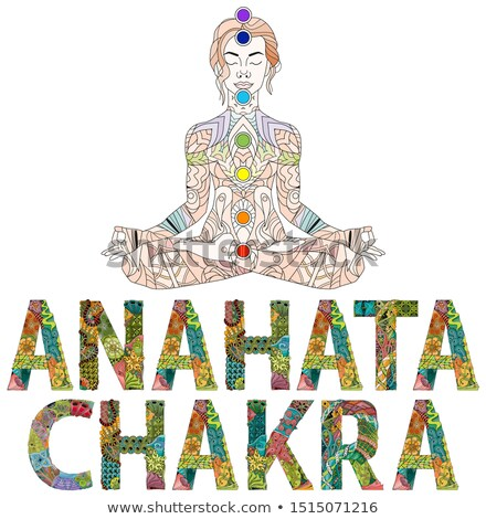 Anahata Chakra. Vector zentangle object for decoration Stock photo © Natalia_1947