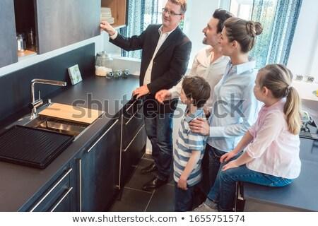キッチン 販売 家族 子供 サービス 専門家 ストックフォト © Kzenon