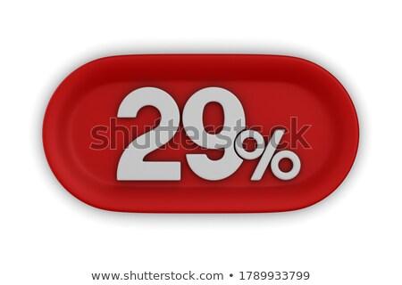 Vinte nove por cento branco isolado 3D Foto stock © ISerg