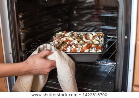 Warzyw pan żywności tabeli Zdjęcia stock © brebca